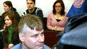 Jiří Kajínek při soudním přelíčení