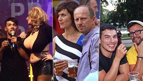 Festival gayů a lesbiček Prague Pride: Šklebící se Janečková, divoký Laffita i zděšený Bendig!