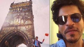 Král Bollywoodu v Praze: Indický krasavec Shah Rukh Khan tu točí lovestory