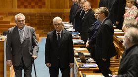 Prezident Miloš Zeman navštívil Senát v květnu 2014.