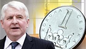 Koruna je nejsilnější od roku 2013. Podle Rusnoka se v prosinci mohou zvýšit úrokové sazby