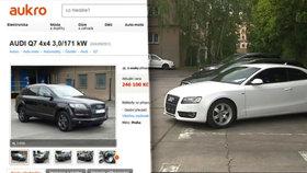 Mafiánská auta byla na aukci za babku: Prodávala se za vyvolávací cenu nebo vůbec