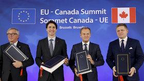Brusel a Kanada podepsaly ožehavý obchodní pakt. CETA potrvá šest let