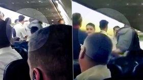 Letadlo nouzově přistálo v Itálii kvůli bitce na palubě, servalo se 10 lidí