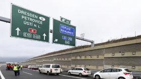 Otevření posledního úseku dálnice D8