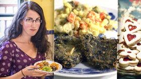Vánoce veganky Andrey: Místo kapra hlíva, vajíčka v salátu nahradí černá sůl