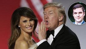 Čech na inauguraci Trumpa: Šampaňské z kelímků, hořící koše i 1. tanec s Melanií
