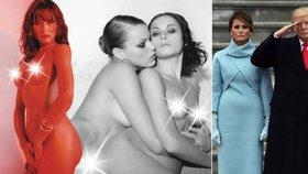 Bílý dům se červená: Melania Trump nafotila lesbické fotky. Erotika s nahou ženou v posteli