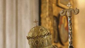 Gruzínský patriarcha Ilia II. během mše v Tbilisi