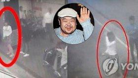 Bezpečnostní kamery odhalily vražedkyně Kim Čong-nama.