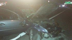 Namol opilý cizinec způsobil na D1 nehodu: Z benzinky vyjel do protisměru