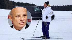 Miloš Zeman na lyžích se stal hitem internetu. Michal Horáček to nenechal bez povšimnutí.