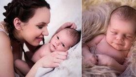 To je andílek! Míša Tomešová z Ulice ukázala tři  týdny po porodu syna Kristiána