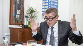 Andrej Babiš při rozhovoru pro Blesk.cz