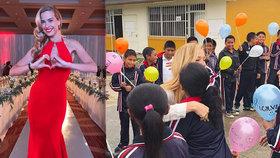 Němcová rozzářila Mexiko: V sexy rudých šatech byla na charitativní večeři nepřehlédnutelná!