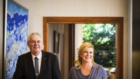 Prezident Miloš Zeman s prezidentkou Kolindou Grabar-Kitarović