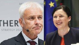 Ředitel Volkswagenu si stěžoval na Jourovou: U Junckera ale neuspěl