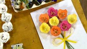 Jarní květinové dekorace za pár korun: Z vajíčkových plat