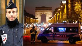 Terorista zabil na třídě Champs-Élysées policistu přímo do hlavy.