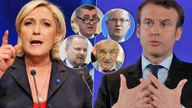 Čeští politici o prezidentské bitvě: Macron má víc fandů než Le Penová