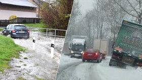 Záplavy a sníh! Třetí povodňový stupeň hlásí řeky na severu Moravy! A bude hůř!