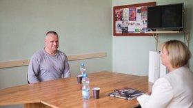Ivana Zemanová se setkala s vězněm Jiřím Kajínkem.
