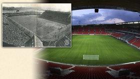 Stadion Sparty na Letné slaví 100 let: Na fotbal sem chodilo i 45 tisíc lidí