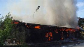 Požár u železniční stanice v Kutné Hoře: Boudu využívali bezdomovci!