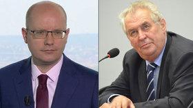 Prezident Zeman přijal demisi premiéra Sobotky. Bez fanfár i hrozby holí