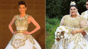 Evka z nejslavnější romské svatby: Prodává svatební šaty, které nosila i Verešová