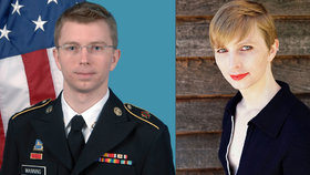 Bradley Manning během služby v americké armádě a o pár let později už jako Chelsea Manningová