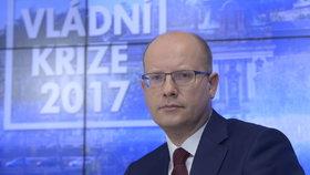 Bohuslav Sobotka v pořadu Ptám se, pane premiére