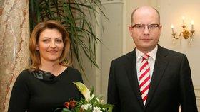Bohuslav Sobotka s ženou Olgou