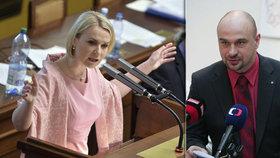 Vymyté mozky. Čuňata! Jana Černochová (ODS) nešetřila poslance za ANO poté, co se Martin Kolovratník (ANO) opřel do jejích kolegů kvůli protahování diskuze.