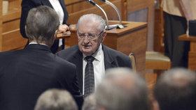 František Čuba (SPO) v Senátu krátce po svém zvolení na podzim roku 2014