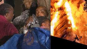 Hrdina uprostřed hořícího pekla: Chytil holčičku (4), kterou matka vyhodila z 5. patra