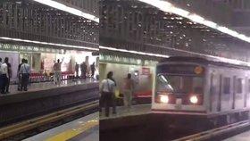 Útočník s nožem v metru zranil čtyři lidi. Policie ho zastřelila