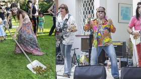 Zahradní party Petra Jandy v hippie stylu: Jeho Alici odrovnaly koňské koblihy!