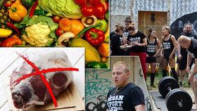 """Vegan a svalovec? David (23) nejí maso šest let a vzpírá. """"Jde to i bez masa,"""" říká"""