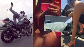 Královna motorkářského porna je mrtvá! Monika se zabila při závodech na dálnici