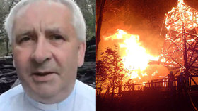 Faráři shořel vzácný kostel před očima: Vstane z popela jako Ježíš, věří