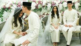Musel konvertovat k islámu a zaplatit věno 115 korun: Fotbalista si vzal malajsijskou princeznu