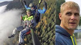 Paraglidista zemřel při své vášni s úsměvem na rtech.