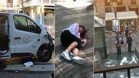 ONLINE: Po Barceloně další teror. Do Španělů v noci najelo auto s výbušninami
