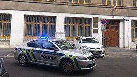 Sebevražda u soudu na Vinohradech: Zastřelil se tam zřejmě člen justiční stráže