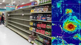 Američané se připravují na hurikán Irma, na Floridě nakupují zásoby