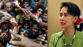 Doma řeší uprchlickou krizi muslimů. Sobotka pozval do Prahy barmskou vůdkyni Su Ťij