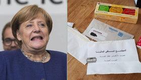 Žiletky a bílý prášek. Politici včetně Merkelové dostali výhrůžné dopisy v arabštině