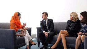 Na Valném shromáždění OSN se s Brigitte Macronovou také setkala nejmladší držitelka Nobelovy ceny za mír, Pákistánka Malala Júsufzaiová.