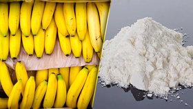 V deseti supermarketech v Německu se v pátek mezi banány objevil kokain.